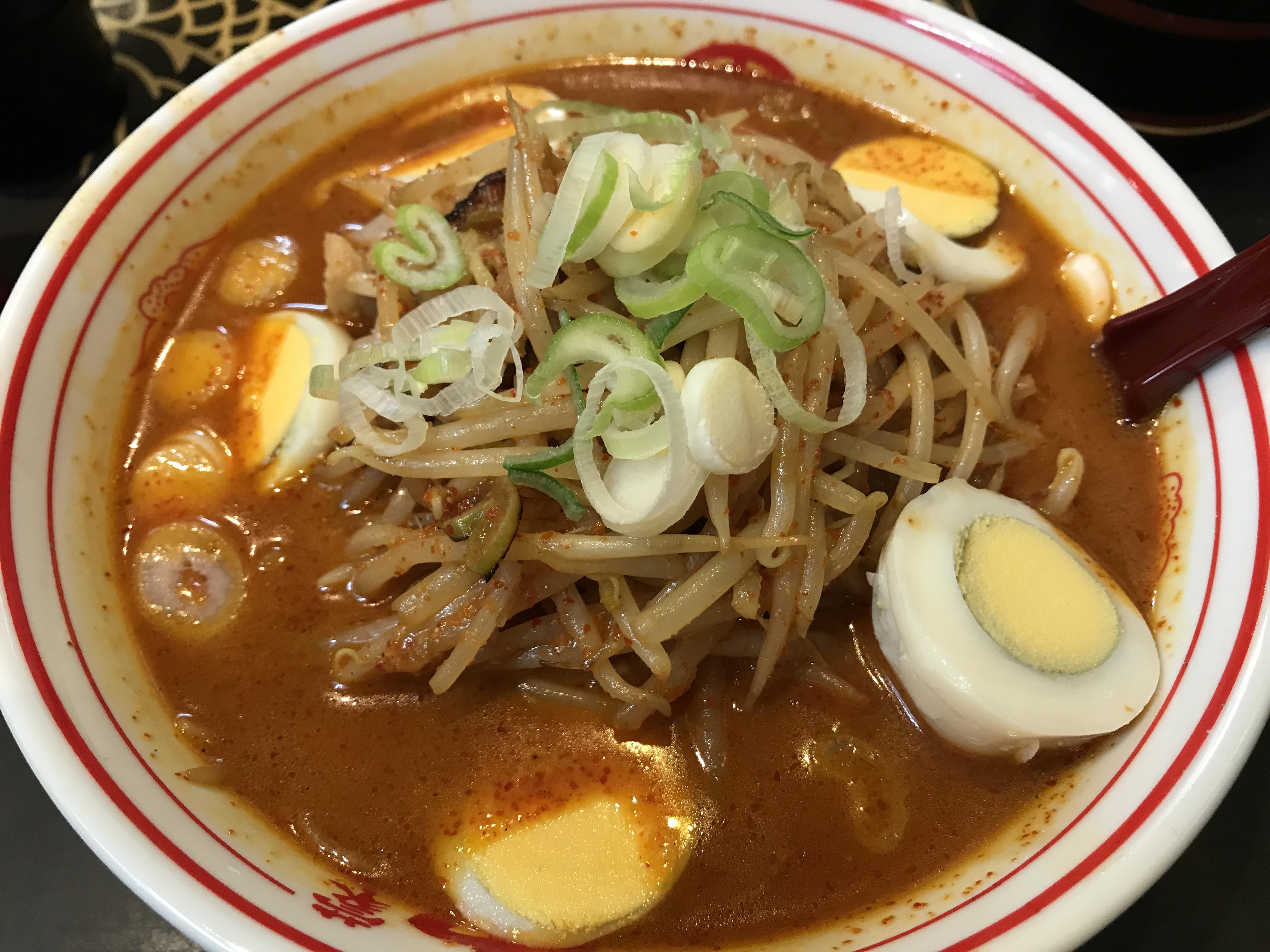 中本の味噌卵麺