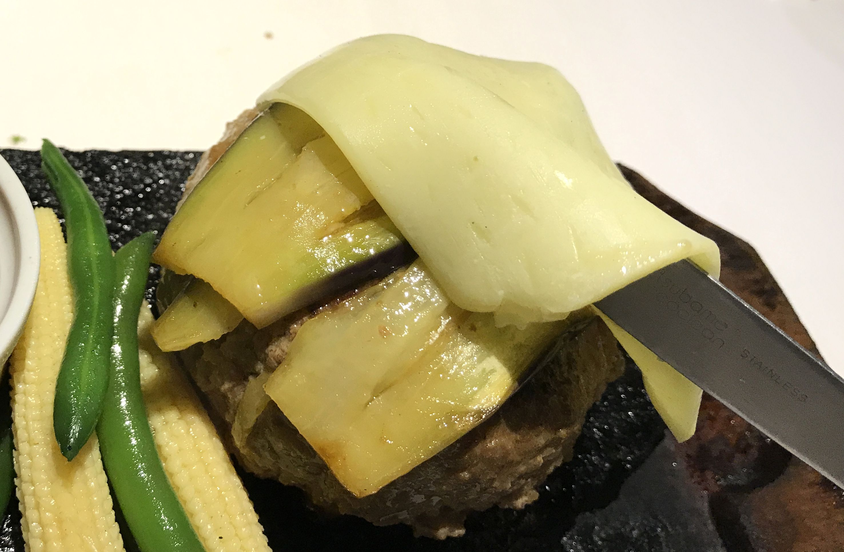 bonboriチーズの下に茄子