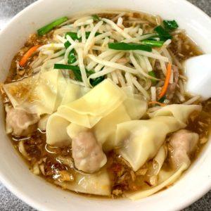 渋谷「喜楽」のもやしワンタン麺