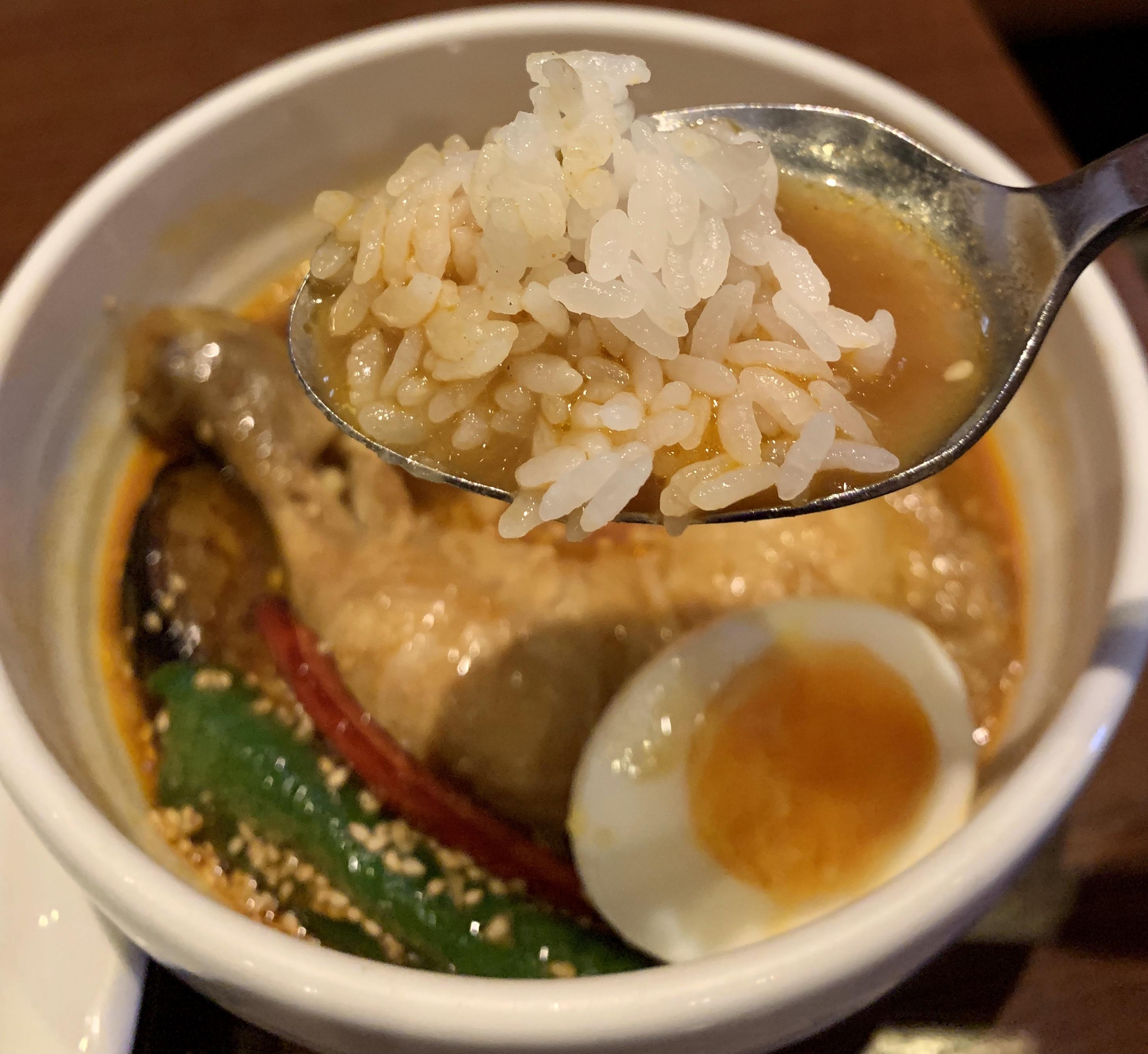 シャンティ(SHANTi)渋谷店のスープにごはん